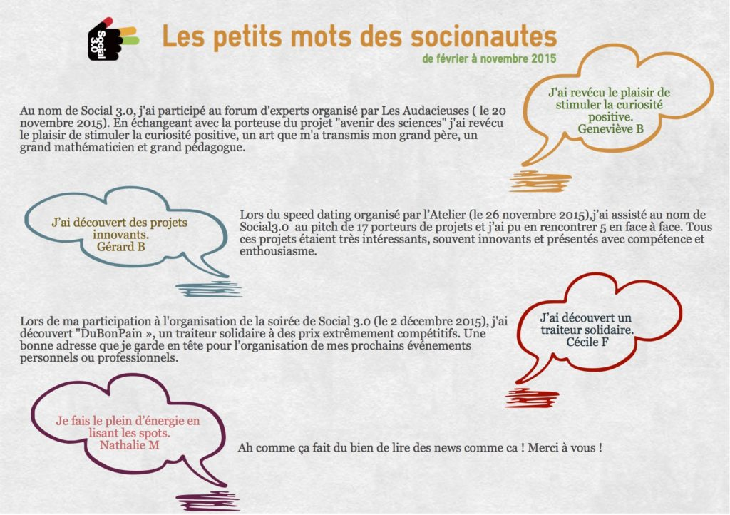 Speed dating solidaire